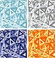 3D Abstract colorful Triangle background vector image