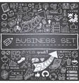 Hand drawn business icons set vector image
