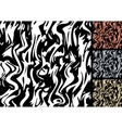 colored zebra stripes vector image