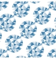 Geometric seamless pattern with gems vector image vector image