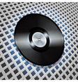 vinyl record with metallic centre on lattice vector image