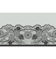 Seamless floral lace ribbon on gray vector image