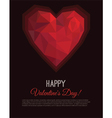 Greeting card Valentines Day in low poly style vector image