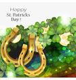 Golden horseshoes vector image