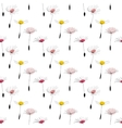Dandelion seeds on white background vector image