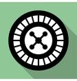 Casino roulette wheel flat icon vector image