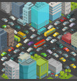 city street intersection traffic jams road vector image