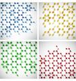 Molecule background set vector image
