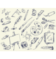 Office supplies Products for Artists Art supplies vector image