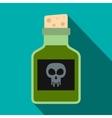 Poison bottle icon flat style vector image