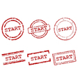 Start stamps vector image