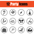 Set of celebration icons vector image vector image