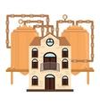 beer factory icon image design vector image