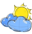 Cloud and sun weather icon vector image vector image