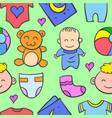 baby object style of doodles vector image