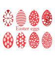 set of easter eggs with a pattern vector image