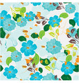 seamless flowers pattern vector image vector image