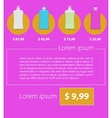 Flat minimalist template business design Liquid vector image