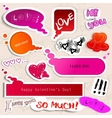 colorful paper bubble for speech valentines day vector image