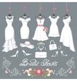 Bridal dresses hang on ribbonsFashion accessories vector image
