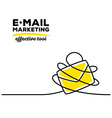 yellow color envelope with black wire and vector image