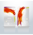 Abstract visit cards vector image