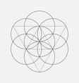 flower of life sign geometric symbol vector image