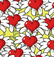 Flower of love seamless pattern Flower meadow vector image
