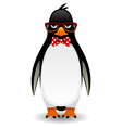 Penguin in glasses eps10 vector image