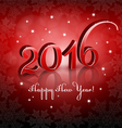 Red 2016 New Year on red background vector image