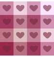 Red hearts on a plaid background vintage seamless vector image