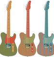Retro guitar set vector image
