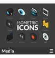 Isometric outline icons set 38 vector image vector image