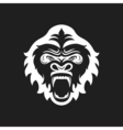 Gorilla head logo for sport club or team Animal vector image