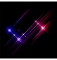 Abstract blue and red rays lights vector image