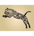 Tiger ornament decoration 4 vector image vector image