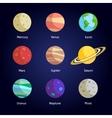 Planets decorative set vector image