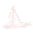 Beautiful abstract bride vector image vector image