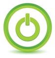 Green power icon vector image vector image