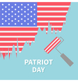 Paint roller brush Star and strip flag Patriot day vector image