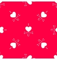 red i love you seamless pattern with heart vector image