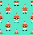 christmas seamless pattern with greeting santa vector image