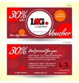 discount voucher template with colorful vector image