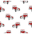 seamless pattern with red luxury retro car on vector image
