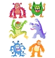 Set of funny cartoon monsters vector image