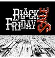Black Friday Retro Typography Logo in black room vector image vector image