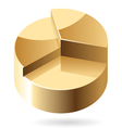 Isometric icon of gold chart vector image vector image