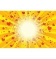 Valentine heart background pop art retro vector image