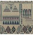 Ethnic seamless pattern dark backdrop Hand drawn vector image vector image