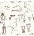 Collection of Australia doodle seamless vector image